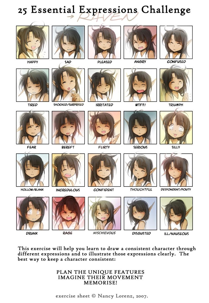 25_Essential_Expressions_Raven_by__achiru_