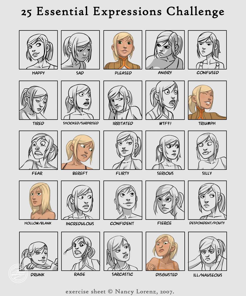 25_expressions___Sarah_by_zazB